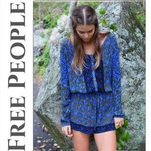 Free People Blue Resort Romper Size Medium